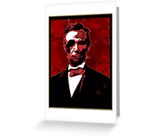 Zombie Lincoln Greeting Card
