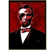 Zombie Lincoln Photographic Print