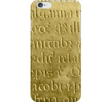 Old medieval latin stone iPhone Case/Skin