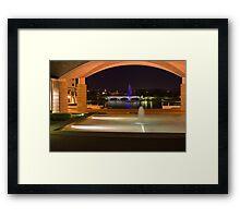 Bond University under the arch Framed Print