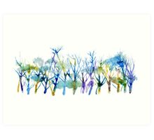Blues forest Art Print