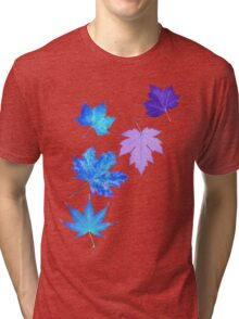 Nature - Inverted Leaf Tri-blend T-Shirt