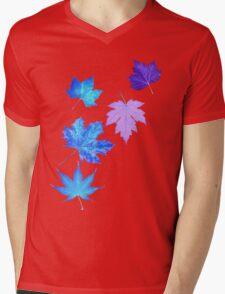 Nature - Inverted Leaf Mens V-Neck T-Shirt