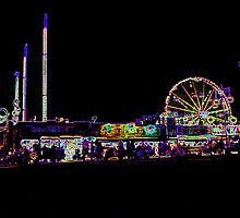 CONEY ISLAND IN NEON by KENDALL EUTEMEY