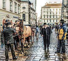 Fiaker stand at Stephansplatz Vienna by Tarrby