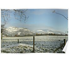 The Ochil Hills central Scotland in winter Poster