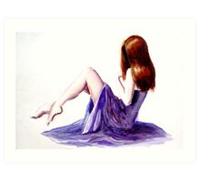 Rebecca (watercolours on paper) Art Print
