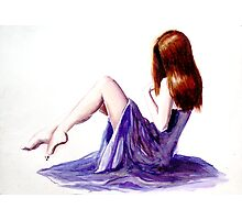 Rebecca (watercolours on paper) Photographic Print