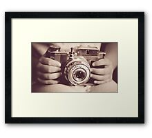 The camera can photograph thought Framed Print