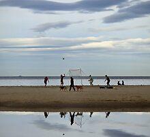 Beach Volley Ball by Kristi Robertson