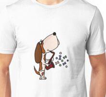 Funky Basset Hound Playing Saxophone Unisex T-Shirt