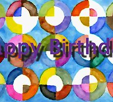 Happy Birthday Circles 1 by reddogcards