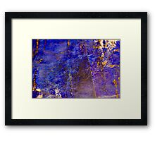 Blue marble - patterned texture background  Framed Print