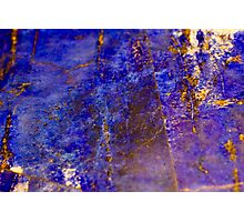 Blue marble - patterned texture background  Photographic Print