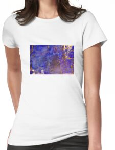 Blue marble - patterned texture background  Womens Fitted T-Shirt