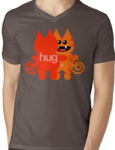 KAT HUG Mens V-Neck T-Shirt