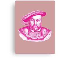 Pink Henry the Eighth VIII Canvas Print