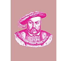 Pink Henry the Eighth VIII Photographic Print