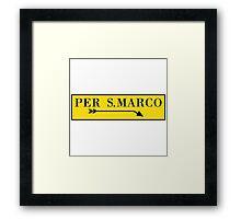 Per San Marco, Venice, Italian Street Sign Framed Print