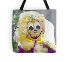 Rapunzel, Rapunzel, let down your gold hair Tote Bag