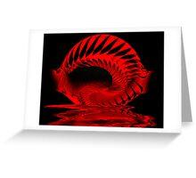 Spiral Spill Greeting Card