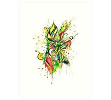 colourful organics Art Print