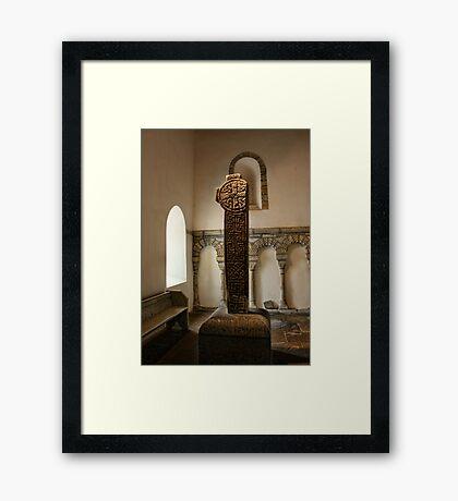 Penmon-Celtic Cross Framed Print
