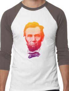 Big psychedelic Abe  Men's Baseball ¾ T-Shirt