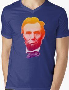 Big psychedelic Abe  Mens V-Neck T-Shirt