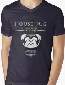 House Of Pugs Mens V-Neck T-Shirt