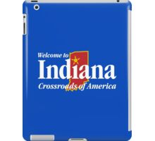 Welcome to Indiana Road Sign iPad Case/Skin