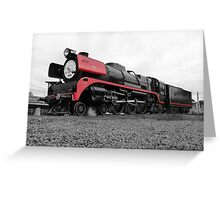 707 Locomotive (Spot Colour) Greeting Card