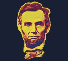 Bright Face Abraham Lincoln  Kids Tee