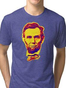 Bright Face Abraham Lincoln  Tri-blend T-Shirt