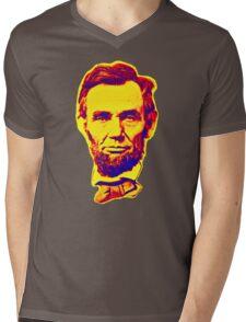 Bright Face Abraham Lincoln  Mens V-Neck T-Shirt