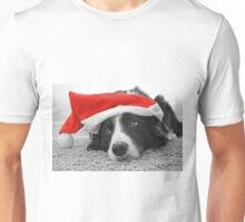 Border Collie Christmas Card - Santa's Little Helper Unisex T-Shirt