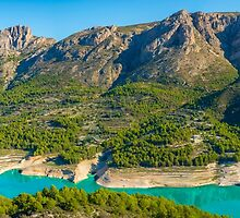 Guadalest Reservoir Panorama by Ralph Goldsmith