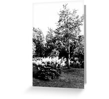 The Pear Tree. A Bush. Greeting Card