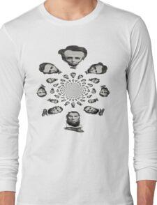 abraham lincoln kaleidoscope Long Sleeve T-Shirt