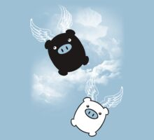 TWIN PIGS FLYING Baby Tee