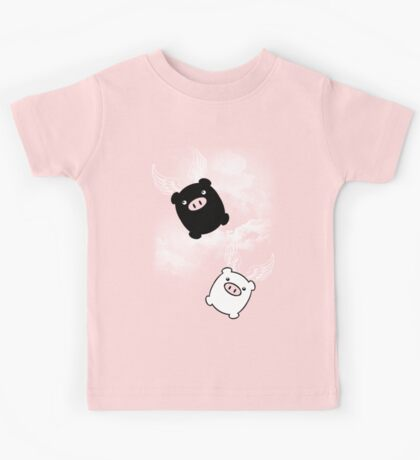 TWIN PIGS FLYING Kids Tee