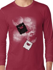 TWIN PIGS FLYING Long Sleeve T-Shirt