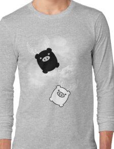 TWIN PIGS FLYING Long Sleeve T-Shirt