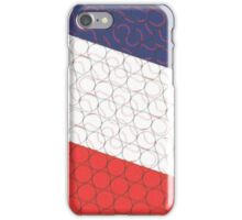 Baseball Pattern 2 - Red/White/Blue iPhone Case/Skin