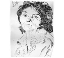 Paula Rego on YouTube -(260711)- Biro pen/black ink  Poster