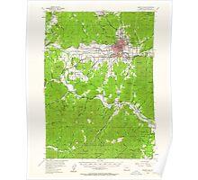 USGS Topo Map Oregon Grants Pass 282545 1954 62500 Poster