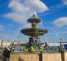 Fountain at  Place de la Concorde(Color), Paris by Charuhas  Images