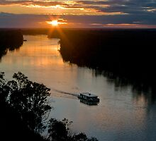 River Murray Sunset by Tony Cave