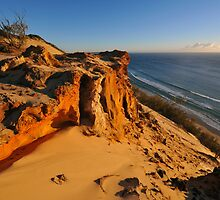 Carlo Sandblow at sunrise. Rainbow Beach, Queensland, Australia by Ralph de Zilva
