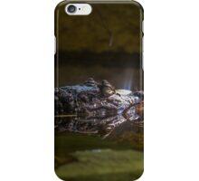 caiman crocodile in the water iPhone Case/Skin
